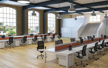 Example of an office fit-out project