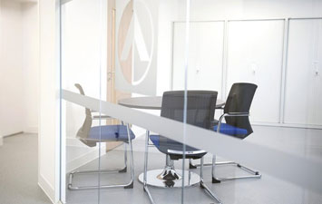 Office partitioning in an office refurbishment by Procol