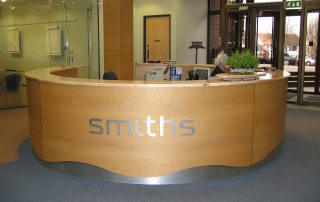 Office design and fit out for Smiths Group