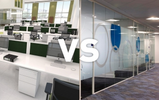 Open plan vs enclosed office space