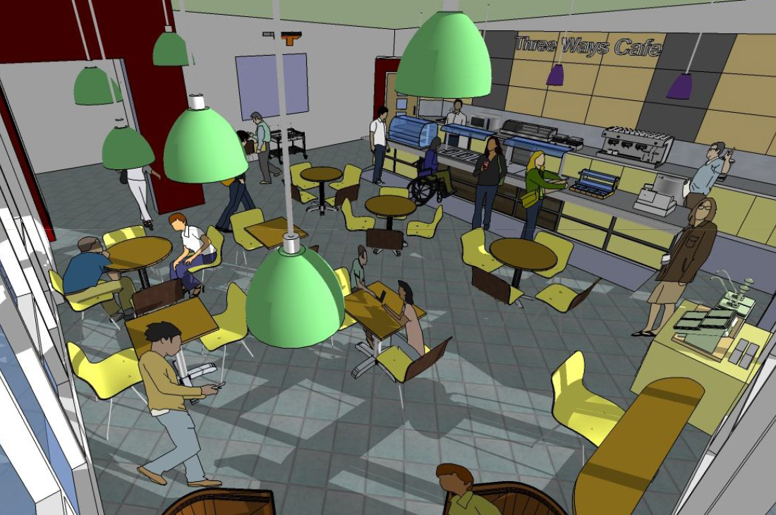 Visual of the new Teacup Café at Three Ways School