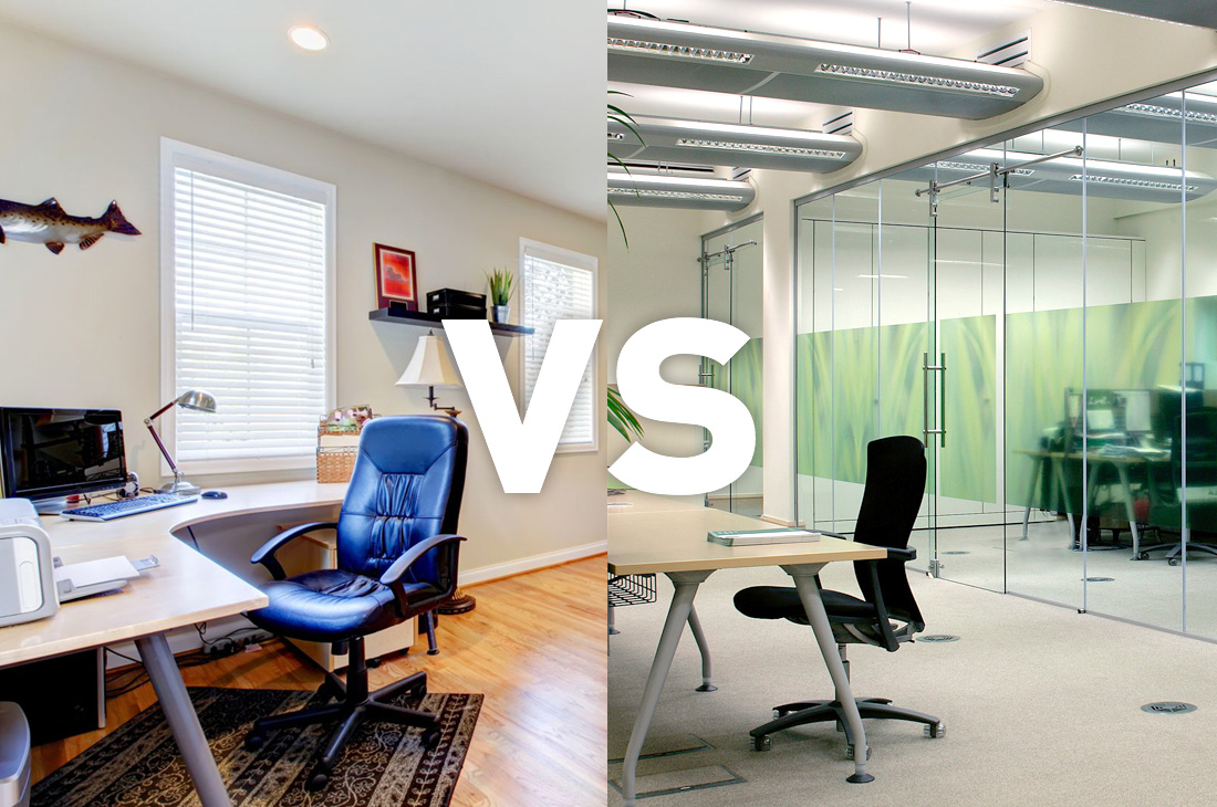 Ordinaire Home Working Vs Office Working