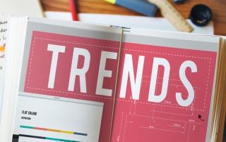Trends headline in an office design book