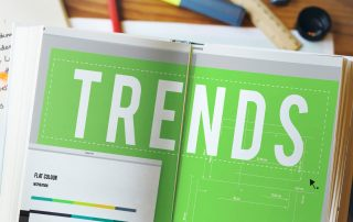 Trends headline in an office design book