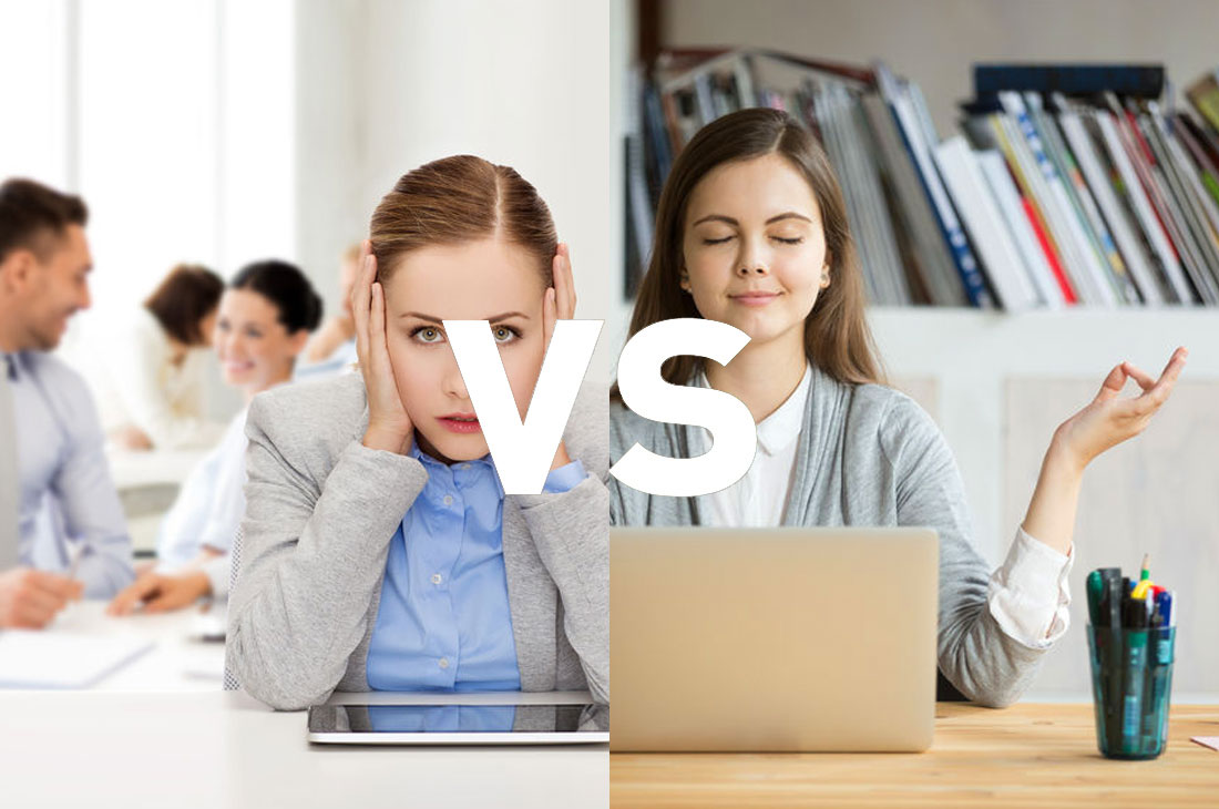 Noisy office vs quiet office